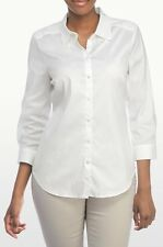 NEW NYDJ WOMEN'S FIT SOLUTION 3/4 SLEEVE BUTTON FRONT SHIRT TOP SIZE XSMALL NWT