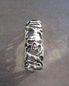 Skull tube stainless steel dreadlock beads dread / hair / braid / beard 9.5mm