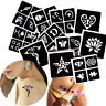 Henna Tattoo Stencil Dancer Star Pattern Temporary Back Body Colored Paste Paint