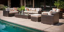 Sausalito 9-Piece Deep Seating Outdoor Patio Conversational Set