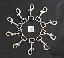 Dog Lead Clips Pack of 10 Heavy Duty 20mm Square Eye Trigger Hook Clips 74mm