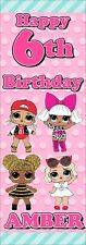 2 X Personalised LOL Vertical Birthday Banners