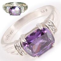 Heirloom Quality Sterling Amethyst Rings -  Avon R.J. GRAZIANO Designer .925