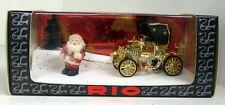 Rio 1/43 Scale SL060 Gold plated Christmas scene 1998 diecast model car + Santa