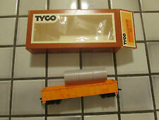 tyco Union Pacific gondola car with culvert pipe load Ho scale