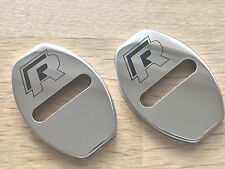 2pcs Volkswagen R Line Door Lock Cover Chrome Buckle MK7 R Golf Tiguan Polo
