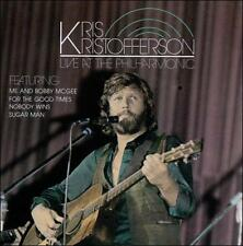 "KRIS KRISTOFFERSON, CD ""LIVE AT THE PHILHARMONIC"" NEW SEALED"
