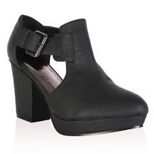 Scarpe da donna stivali alla caviglia neri fibbia