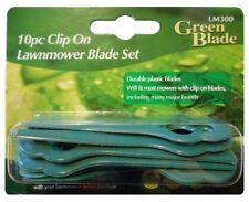 10 PLASTIC MOWER BLADES - ELECTRIC LAWN GARDENING TOOLS ACCESSORIES PK10 LM300