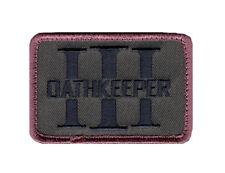 Three 3% Percenter Oathkeeper Morale Hook Fastener Patch (3.0 X 2.0 MOP1)