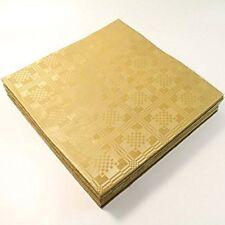 25 X Fogli Color Oro Metallico Quadrato usa e getta TOVAGLIE COPERTINE Feste Matrimonio