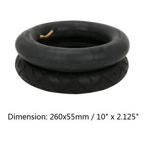 """10"""" x 2.125"""" Tire & Inner Tube Rubber Wheel Set Non-Slip for Electic Scooters"""