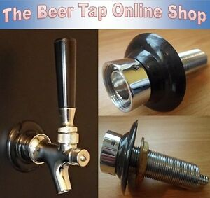 Self Closing Beer Tap Faucet+Shank - Kegerator - Home Bar - Man Cave - Home Brew
