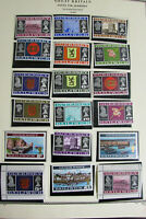 Guernsey Stamp Collection Mint on Scott Pages