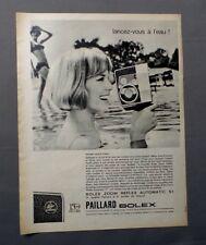 PUB PUBLICITE ANCIENNE ADVERT CLIPPING 240917 CAMERA ZOOM REFLEX PAILLARD BOLEX