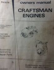 Sears Craftsman Tractor Generator Welder 143.629012 Engine Owner & Parts Manual