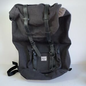 "HERSCHEL SUPPLY CO Backpack Little America 15"" Laptop Black with Tan straps"