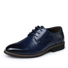 Men's Leather Shoes Formal Business Dress Casual Lace Up Party Wedding Flats New
