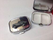 Bond Equipe GT4S ref29 pewter effect car emblem on silver metal pill box
