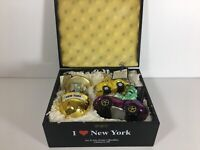 Joy To The World Glass Ornaments Collectibles New York Hand Painted Box Poland