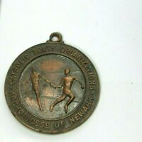 Vintage 1940s Catholic Youth Org Bronze Medal Track Relay Archdiocese of Newark