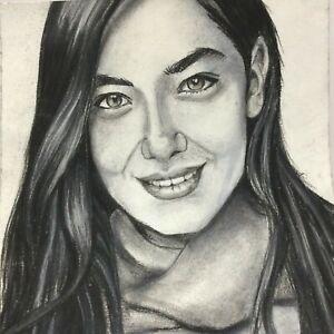 original portrait painting of Turkish actress Nihan Atagul by Dark matter 2525