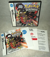 Nintendo DS Pokémon Platinum Version Case & Inserts Only! No Game!