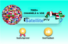 3 Month Satellite IPTV Channels & VOD subscription 7000+ US,UK,Europe,Arabic,VOD