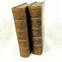 1853 Antique Encyclopedia The Imperial Lexicon English Language Leather Binding