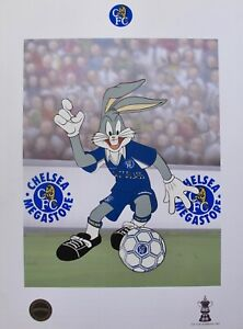 BUGS BUNNY CHELSEA SOCCER LOONEY TUNES Limited Edition Art Lithograph (Football)