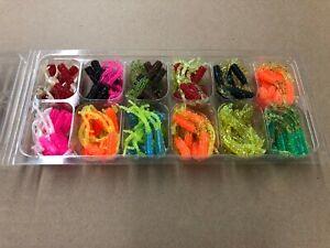 "120 Piece Crappie Legs Fishing Lure Kit, 2"" Chicken Foot Assortment, Panfish USA"