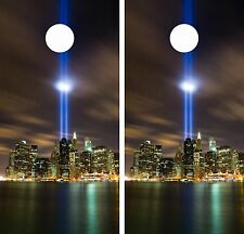 9/11Cornhole Board Game Decal Wraps USA High Quality Image!! LAMINATED
