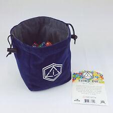 Third Die Dice Bags - Reversible, Free Standing Dice Bag Extra Large - Blue