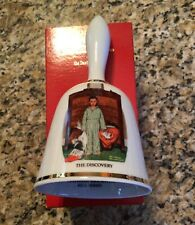 "Danbury Mint Norman Rockwell ""The Discovery"" Christmas Bell"
