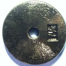 """1 pc. Cast Iron 7.5lbs Weight Plates 1"""" Hole BLACK USED"""