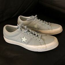 Leather Converse All Star In Pastel Blue