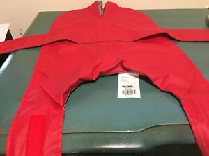 Petco Dog Raincoat Cape  Reversible  Medium Red with Fire Hydrants - No Hood