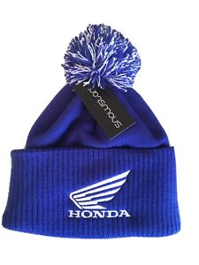 Honda Royal Cuff Snowstar Beanie White Logo