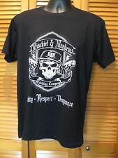 T-Shirt, Mischief & Mayhem, Skull, 2 Guns Design, Dressed to Kill, Size L, Black