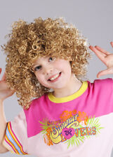 Kids Curly Blonde Candyfloss Style Wig