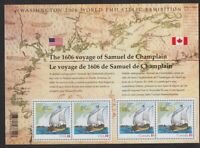Canada 2006 Champlain S/S joint issue with USA Scott #2156 cat.val. $10 VF MNH