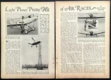National Air Race 1930 pictorial Pitcairn-Cierva Autogiro/Waldo Watermans/Doret