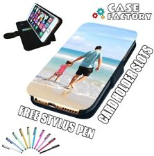 QUALITY PERSONALISED CUSTOM PHOTO PRINT LEATHER WALLET FLIP PHONE CASE COVER