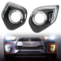 LED DRL Lamps Daytime Running Light for Mitsubishi Outlander Sport ASX 2013-2014