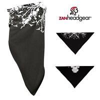 Zan Highway Honey Bamboo Headwrap Skull Black Rhinestone HBHHB2