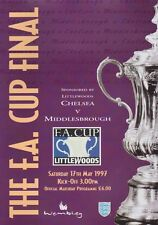 F A CUP FINAL 1997 CHELSEA v MIDDLESBROUGH MINT