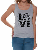 LOVE Basketball Women's Tank Tops Gift for Basketball Player Game Day