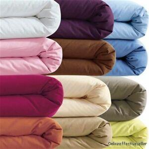 US Queen & Solid Color 3 PC Duvet Set+Flat Sheet 1000 TC New Egyptian Cotton