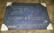 (Read) Destiny 2 Coldheart Exotic Beam Rifle Mounted Art Print