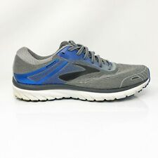 Brooks Mens Adrenaline GTS 18 1102712E015 Gray Blue Running Shoes Size 10.5 2E